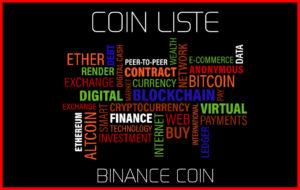 Coin Liste BINANCE COIN